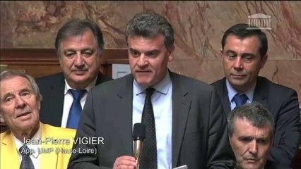 Jean-Pierre Vigier interpelle Manuel Valls