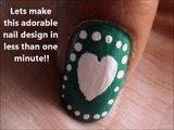 ONE MINUTE NAIL ART tutorial!!! nail design tutorials- easy nail art for short nails- beginners