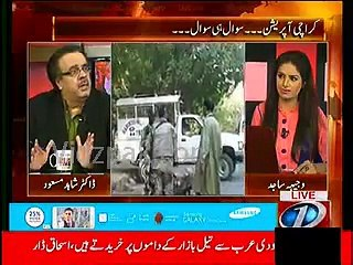 Dr.Shahid Masood couldn't tolerate Rangers operation against MQM target killers & land grabbers and started speaking against Rangers