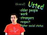 Learn Spanish - Should I use Tú or usted in Spanish? (informal vs. formal)