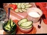 Serve Cold Smoked Salmon Lox on Cucumber, Dill, Himalayan Salt Block