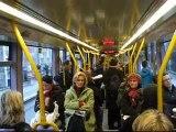 LUAS trams in Dublin - Alstom Citadis Straßenbahn - Villamos