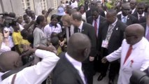 Jim Yong Kim and Ban Ki-moon Visit Eastern Congo