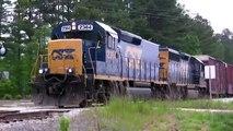 CSX F729 train crossing Davis Dr in Apex, NC