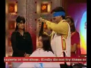 Harish Bhatia Shabash India Blind Fold Hair Cutting