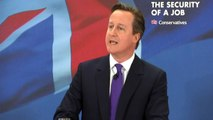 Cameron: 'Britain is officially the jobs factory of Europe'