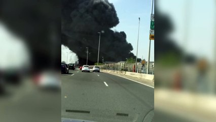 Incendie entrepôt Saint-Ouen