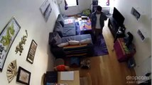 Woman catches break in on camera set up to watch her cats