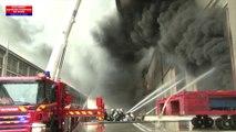 Incendie à La Courneuve, les images impressionnantes des sapeurs-pompiers