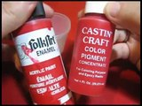 Resin coloring experiment: Acrylic paint V.S Castin Craft pigment