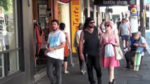 People watching and shop window gazing in Newtown, Sydney, Australia