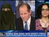 CNN Debate - Ban the Burka and Ban the Niqab but LEAVE BRITNEY alone!  The Niqabi here is Awsome!
