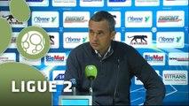 Conférence de presse AJ Auxerre - Tours FC (2-3) : Jean-Luc VANNUCHI (AJA) - Gilbert  ZOONEKYND (TOURS) - 2014/2015