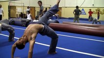 Gymnastics: Learn how to do a back handspring tutorial -backhandsprings guide