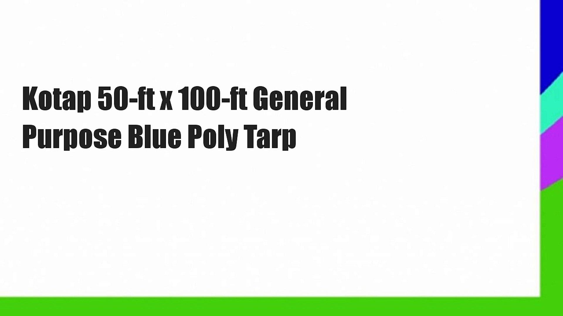 Premium Heavy Duty Multi-Purpose Waterproof Poly Tarp Cover 20 ft x 40 ft Reversible Green and Brown