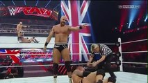 WWE RAW 13-4-2015 Randy Orton vs Cesaro Match But This Match Convert 2 On 1 Handicap Full Match 13 April 2015