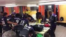 La joie des Toulousains après Lorient/TFC