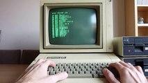 Apple IIe - programming Apple Basic on a 1984 computer!