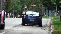 Exotic Cars Leaving SuperCars On State Street 2014 / Nissan GT-R , Lamborghini , Ferrari