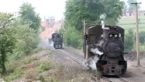 0-8-0 Loco China old steam train and amazing old rails