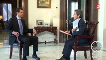 """INTERVIEW FRANCE 2. Bachar Al-Assad : """"Nous n'utilisons que des bombes conventionnelles"""""""