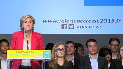 Discours de Valérie Pécresse au meeting de Rosny