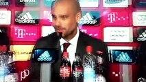 Guardiola, Rueda de prensa en 5 idiomas, en la presentación nuevo entrenador Bayern Múnich.