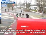 Semi-turbo roundabout with right of way for cyclists - Hilversum, The Netherlands