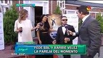 Barbie Velez y Fede Bal acaramelados en la gala
