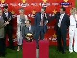 Milan 1x1 barcelona 25/08/2010 - Ronaldinho gaucho é ovacionado