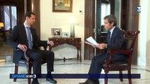 """Interview de Bachar Al-Assad : """"Nous n'utilisons que des bombes conventionelles"""""""