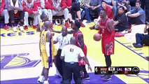 """Kobe Bryant and Dwight Howard """"Try Me"""" and """"Soft"""" Rockets at Lakers"""