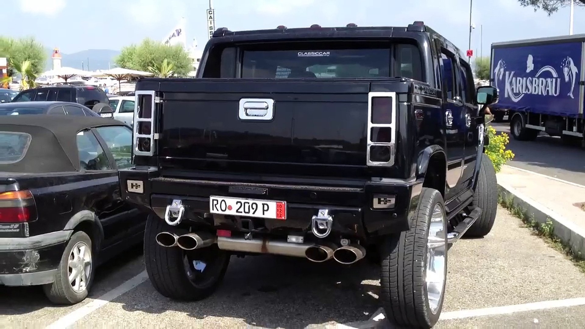 Hummer H14 modified - Spotted in St-Tropez   modified hummer h2