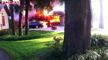 Ripping Two Story House Fire (with radio traffic), Report of Two Victims Trapped