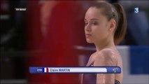 ChE gymnastique artistique 2015 - finales par appareil, 19 avril, poutre (Claire Martin) et réactions (aussi Augis après la barre fixe)