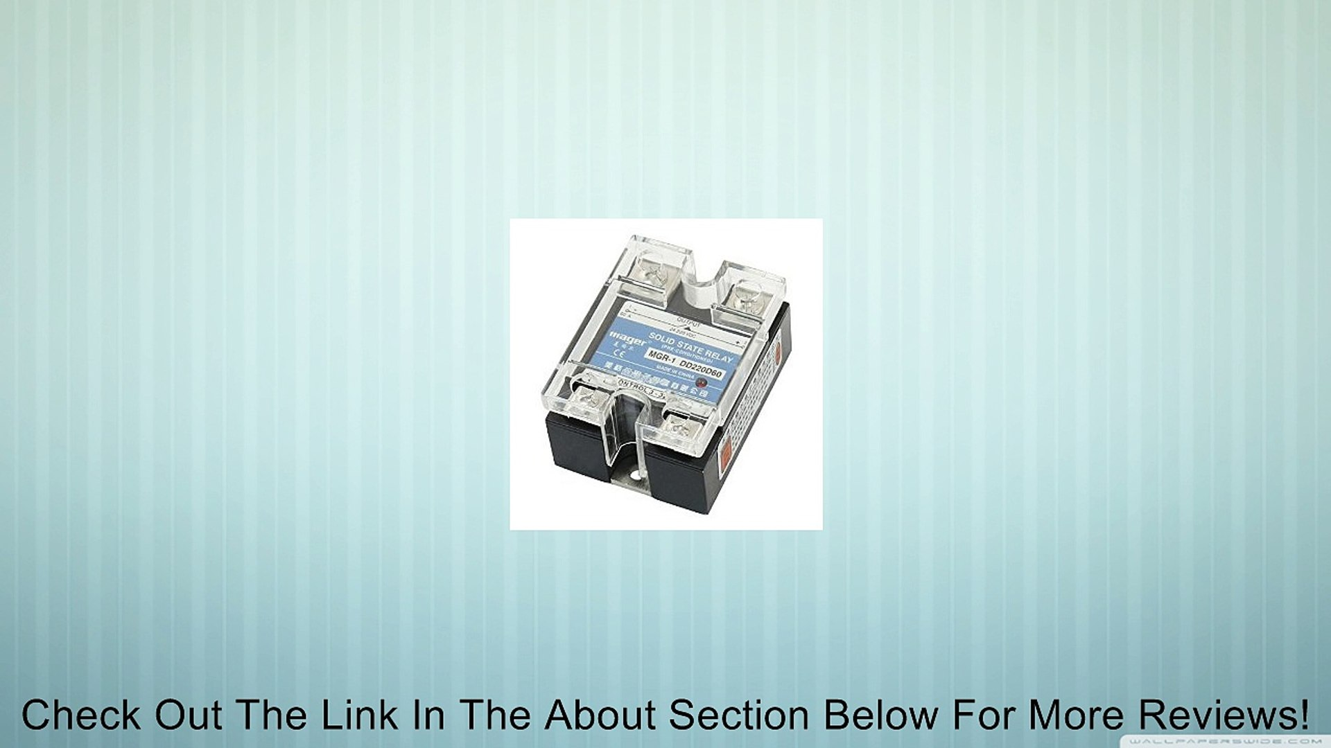 Clear Cover 25A DC to DC Solid State Relay SSR