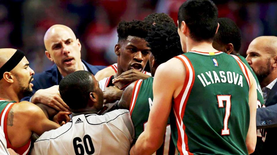 Bulls vs Bucks Game 2 Ends with 7 Technical Fouls After Multiple Scuffles