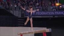 ChE gymnastique artistique 2015 - finales par appareil, 19 avril, poutre (Claire Martin médaillée)