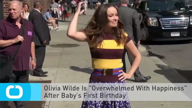 """Olivia Wilde Is """"Overwhelmed With Happiness"""" After Baby's First Birthday"""