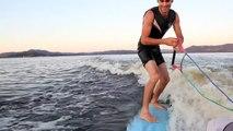 Dubbo surfing,  Wake surfing, surfing behind boat,