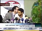 التلفزيون المصري يقطع كلمة احد شباب الثورة