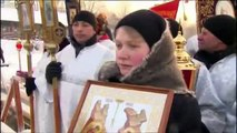 RUSSIA EPIPHANY (Russians dive into icy water to celebrate Orthodox Epiphany)