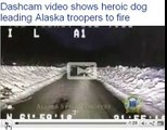 Dog Leads Alaskan Troopers to Fire-video shot on a State troopers dashcam