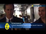 Rick Santorum member of Jewish Frat: Tablet Magazine says Catholic Santorum was in Tau Epsilon Phi