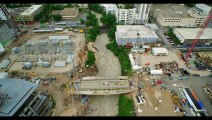 Flooding in Austin Texas - Arial footage of Austin Texas after historic flooding on 5-25-15