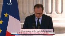 Discours de François Hollande au Panthéon