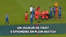 Un joueur de foot s'effondre en plein match