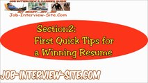 Resume Tips: Quick Resume Writing Tips and Advice