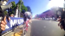 Giro d'Italia 2015 stage 17 sprint from the on board camera / Giro d'Italia 2015 tappa 17 sprint dalle on board camera