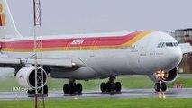 Iberia A340-600 Aterrizando Lluvia MROC